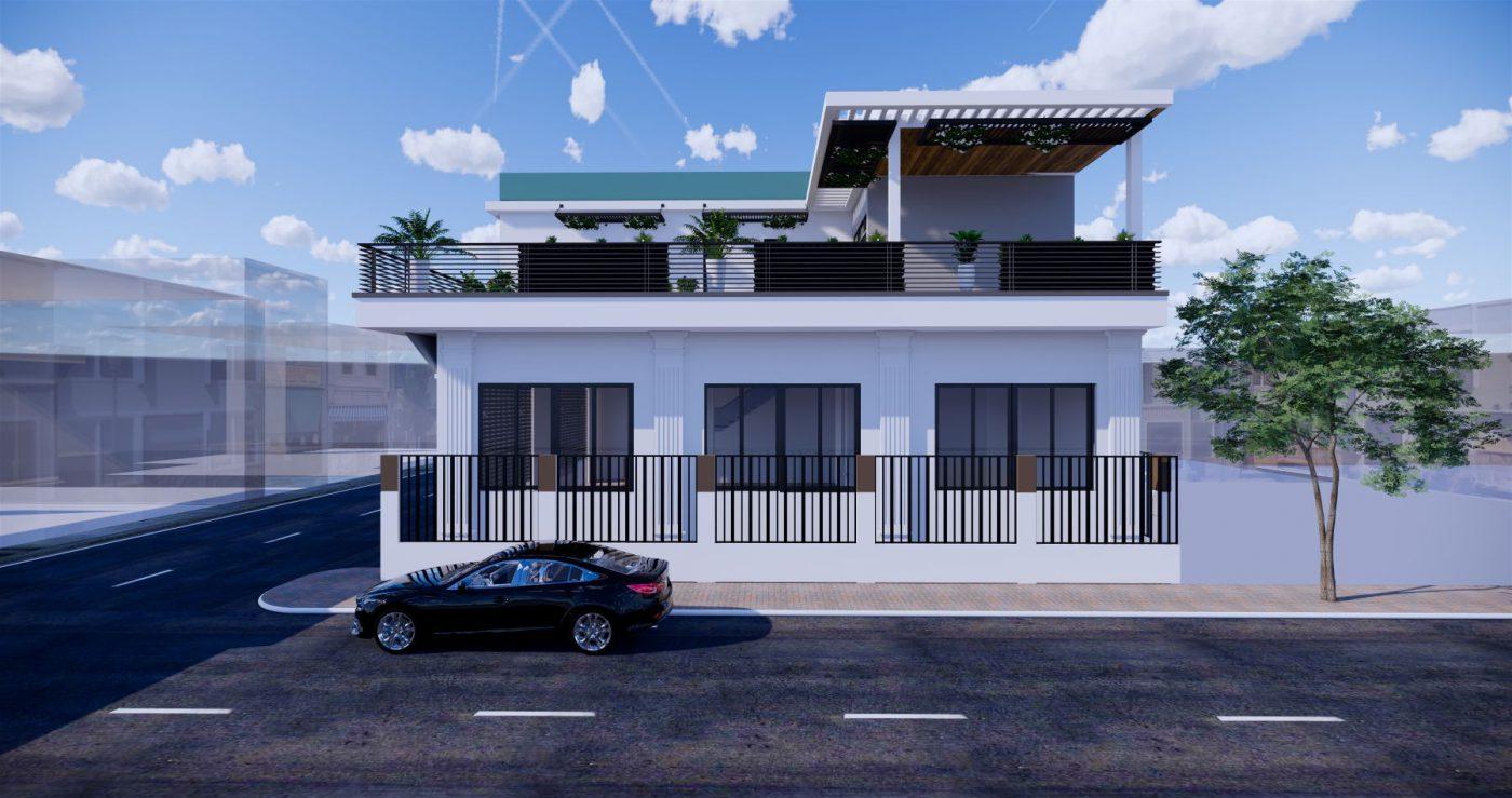 Thiết kế phối cảnh nhà 2 tầng đẹp tại Quảng Ninh