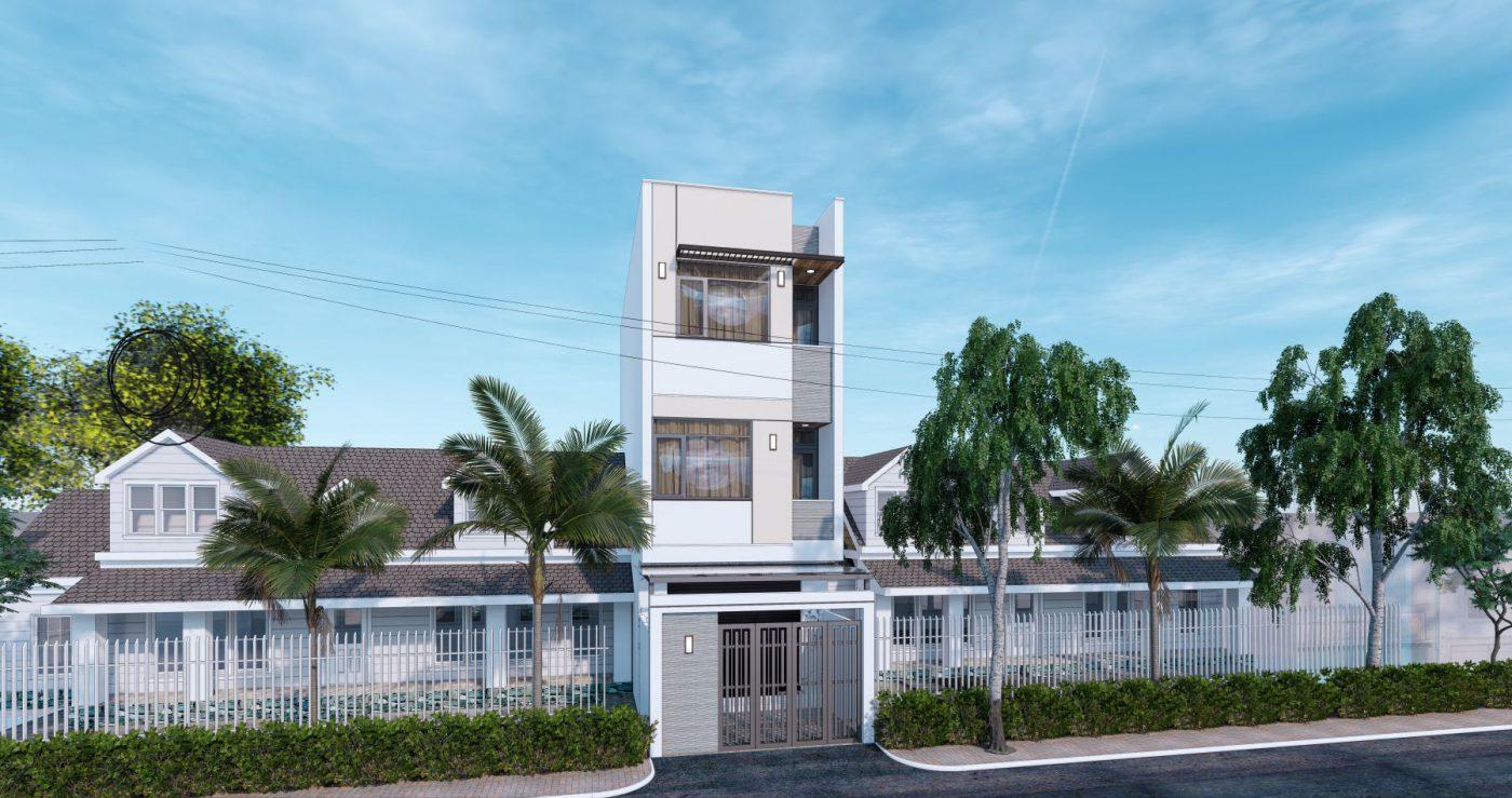 Thiết kế nhà phố 3 tầng hiện đại Quảng Ninh