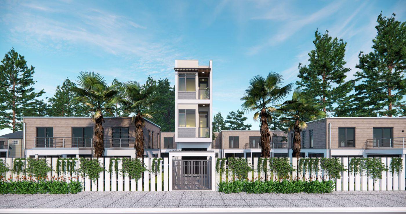 Mẫu mặt tiền ngôi nhà ống 3 tầng mặt tiền nhà phố 3 tầng tại Quảng Ninh