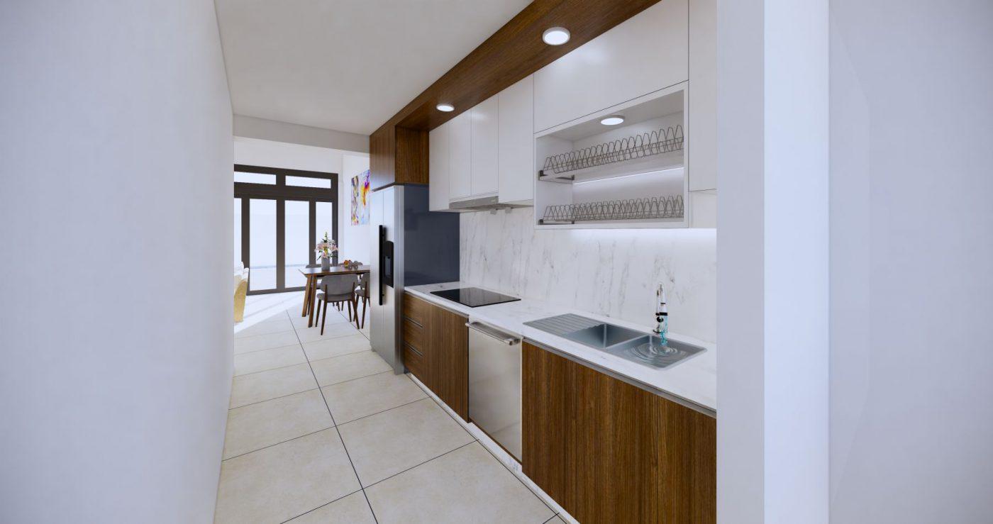 Phối cảnh phòng bếp ngôi nhà