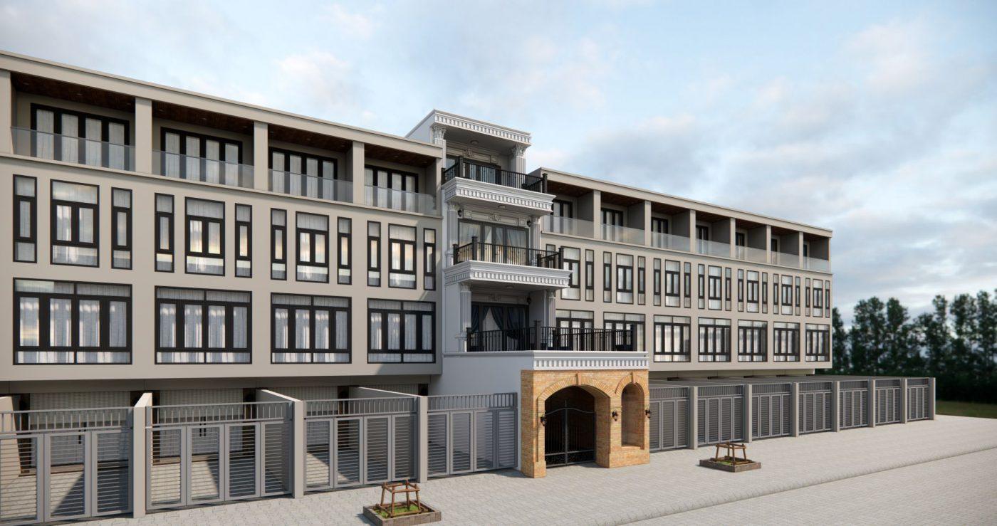 Hình ảnh thiết kế mặt tiền ngôi nhà ở kết hợp kinh doanh tại Hạ Long